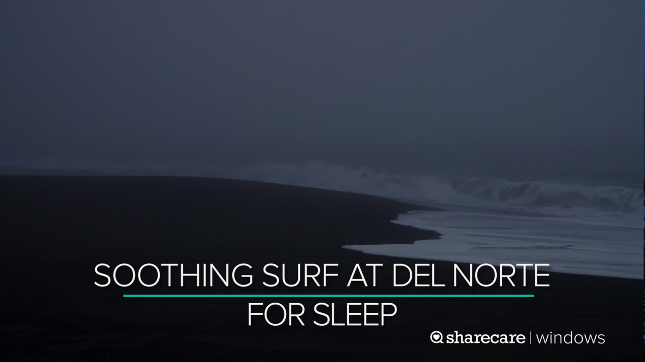 10 Hours of Soothing Surf at Del Norte for Sleep (Ultra Low Light)