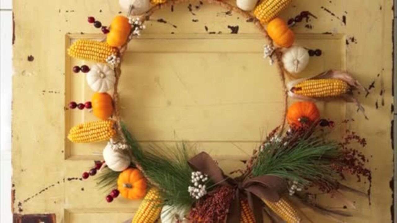 Video: How to make a fall wreath