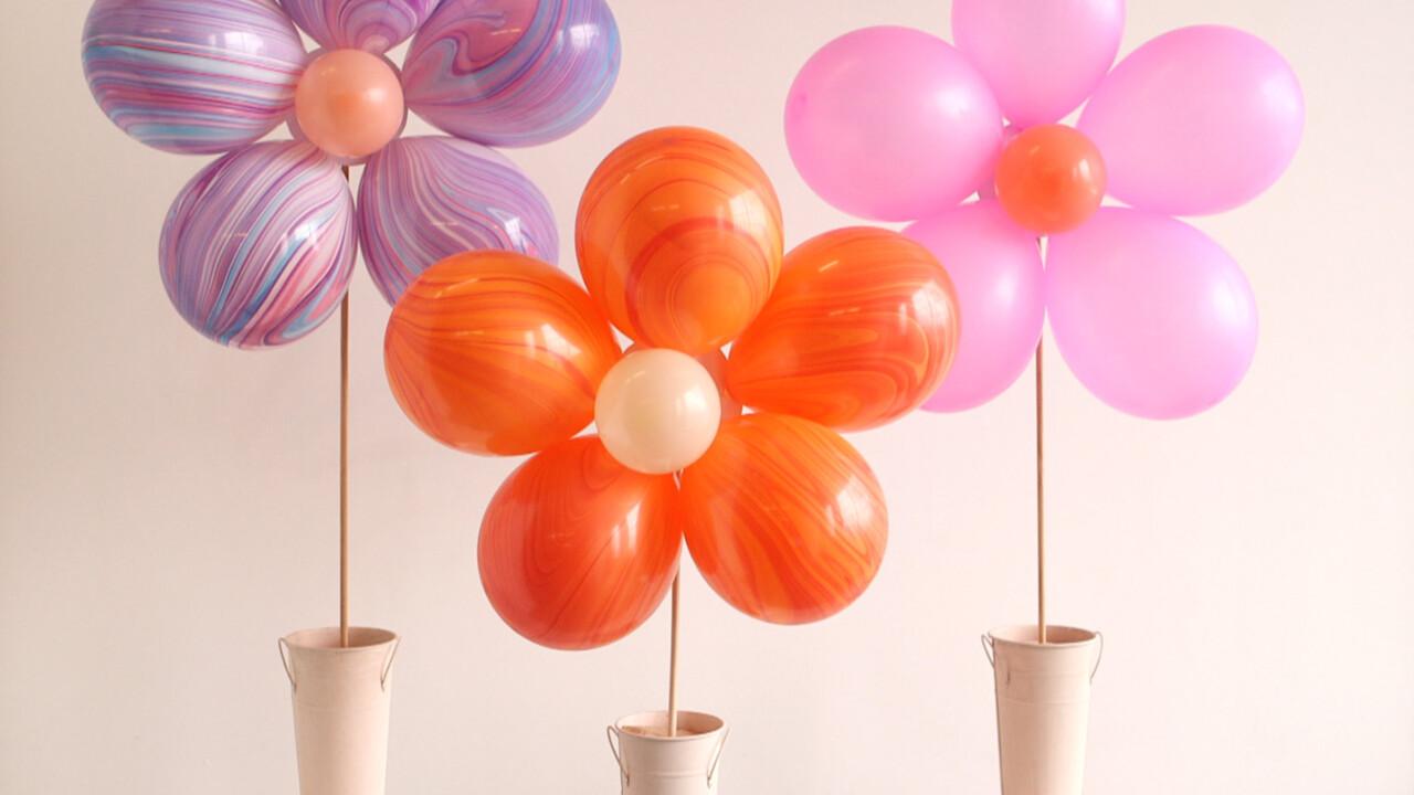 Floral Balloon Bouquet