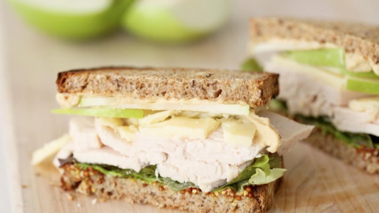 Turkey, Cheddar, and Green Apple Sandwich