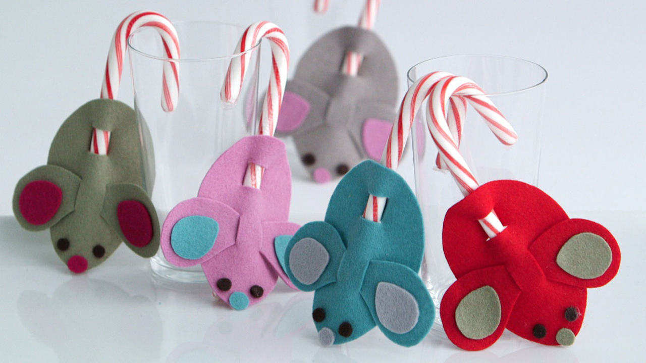 Christmas Crafts To Sell At Bazaar.Candy Cane Mice