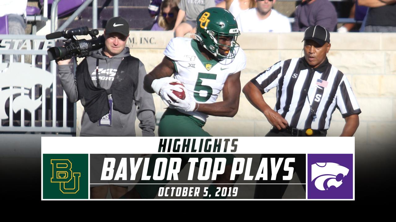 Baylor Football Top Plays Vs Kansas State 2019