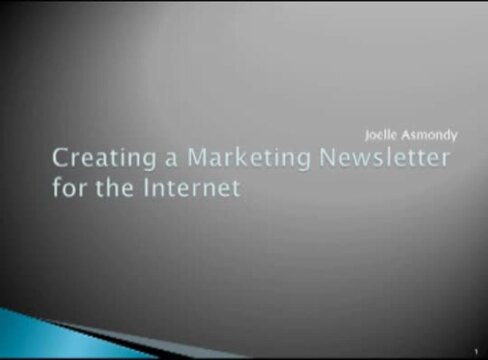 Thumbnail for Creating a Marketing Newsletter for the Internet