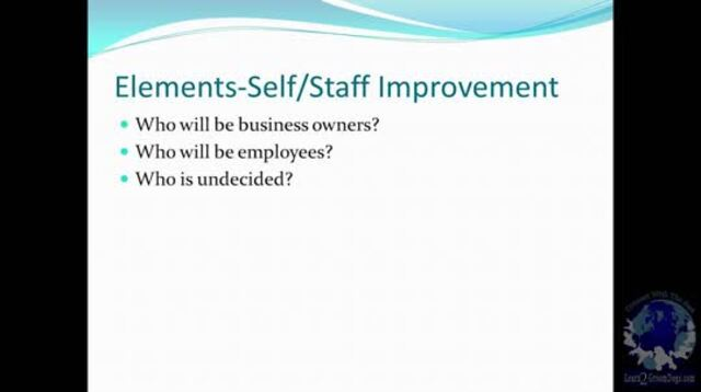 Thumbnail for Building a Successful Business – Self/Staff Improvement