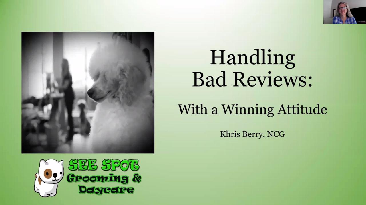 Thumbnail for Atlanta Pet Fair Bonus Session: Handling Bad Reviews With a Winning Attitude