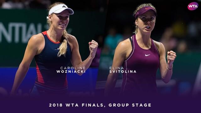 Svitolina stops Wozniacki title defense, surges into