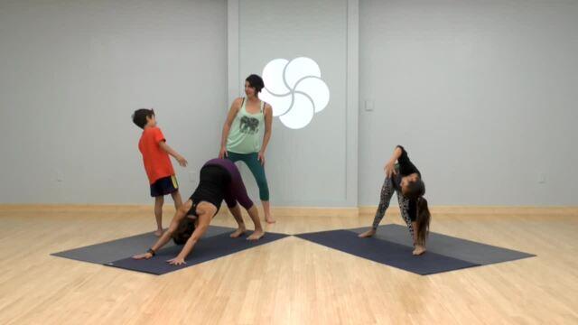 Family Yoga Freeze Tag
