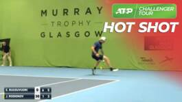 Hot Shot: #NextGenATP Rodionov's Tweener Lob In Glasgow