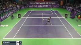 Dustin Brown Behind The Back Hot Shot Bergamo Challenger 2016