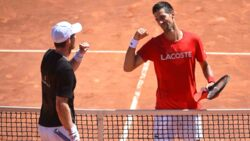 Watch Djokovic & Murray Play Practice Points In Rome