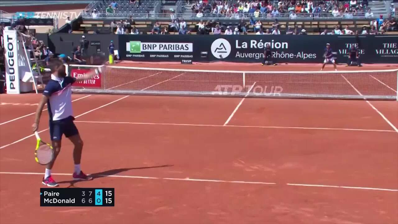 Flashback: Paire Attempts Unique Serve And Volley In Lyon