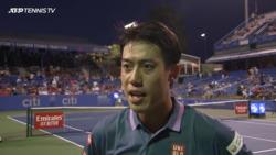 Nishikori Discusses First-Round Win Over Querrey In Washington