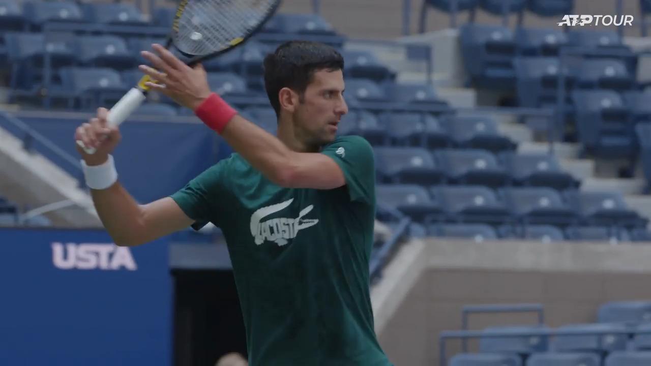 Djokovic Hones His US Open Preparations In Practice