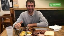 Klahn Tries Texas BBQ At Houston Challenger