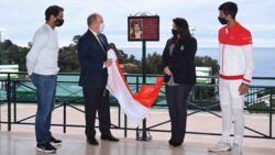 Placa Presentada Para La Baronesa Elizabeth-Ann de Massy En Montecarlo