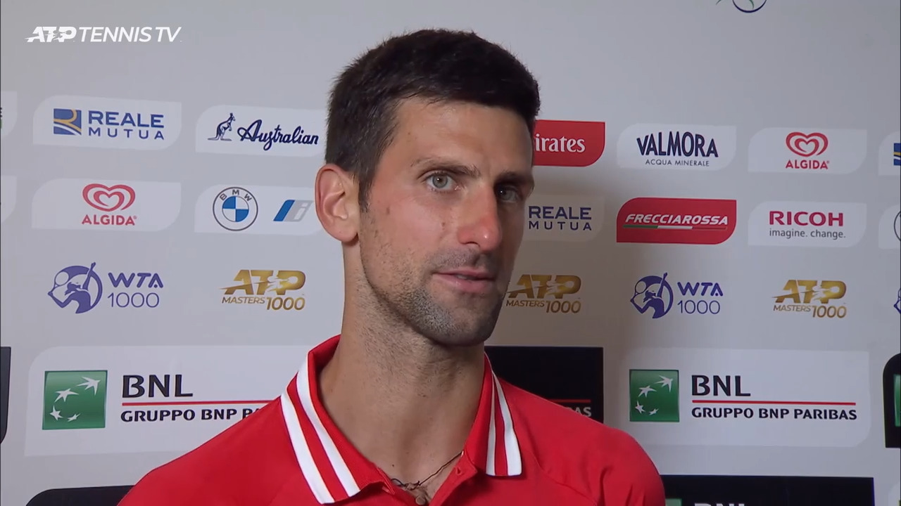 Djokovic: 'It Was An Electric Atmosphere' Against Sonego In Rome