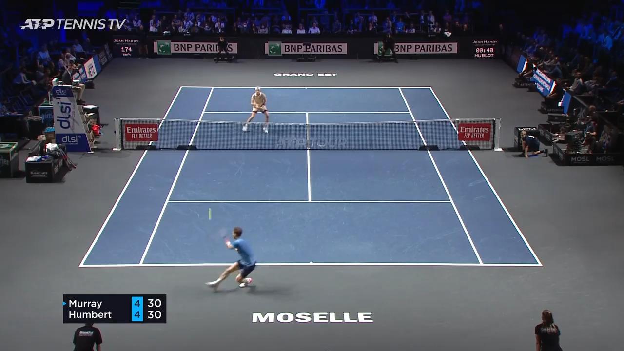Hot Shot: Murray Strikes Amazing Lob Winner In Metz