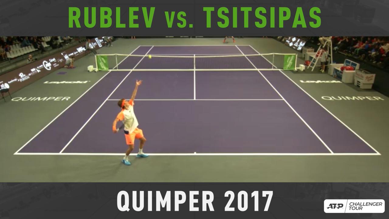 Archivo: El Primer Duelo De Rublev Y Tsitsipas En Quimper 2017