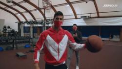 Nothing But Net! Novak Djokovic Shows His Basketball Skills