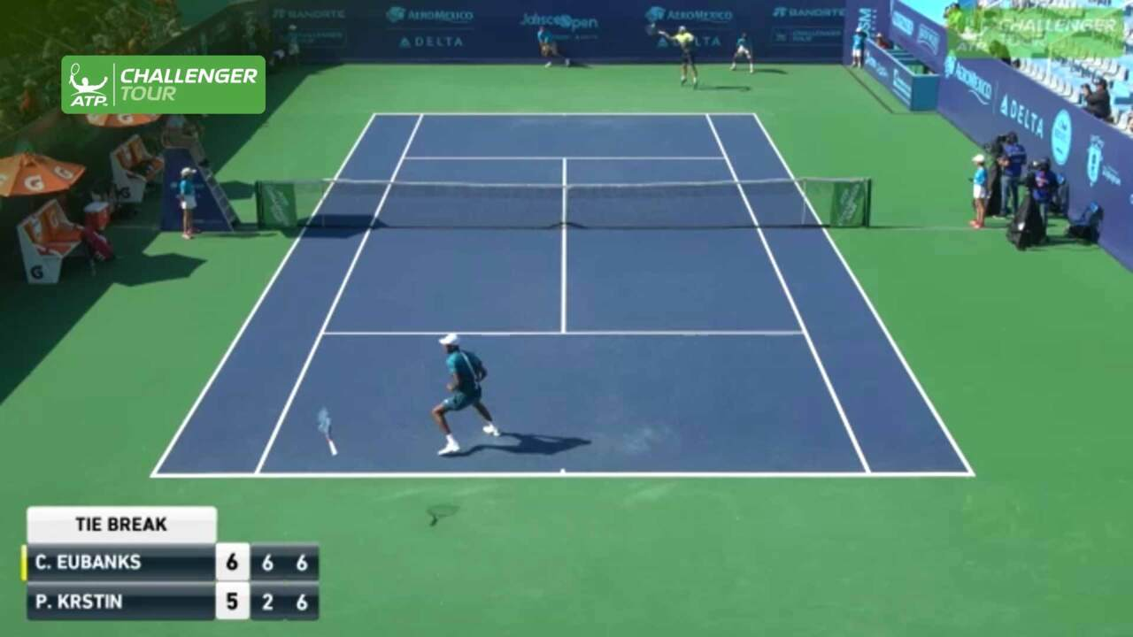 Eubanks Loses Racquet On Match-Winning Ace In Guadalajara
