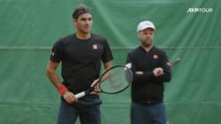 Roger Federer Extended Geneva Practice