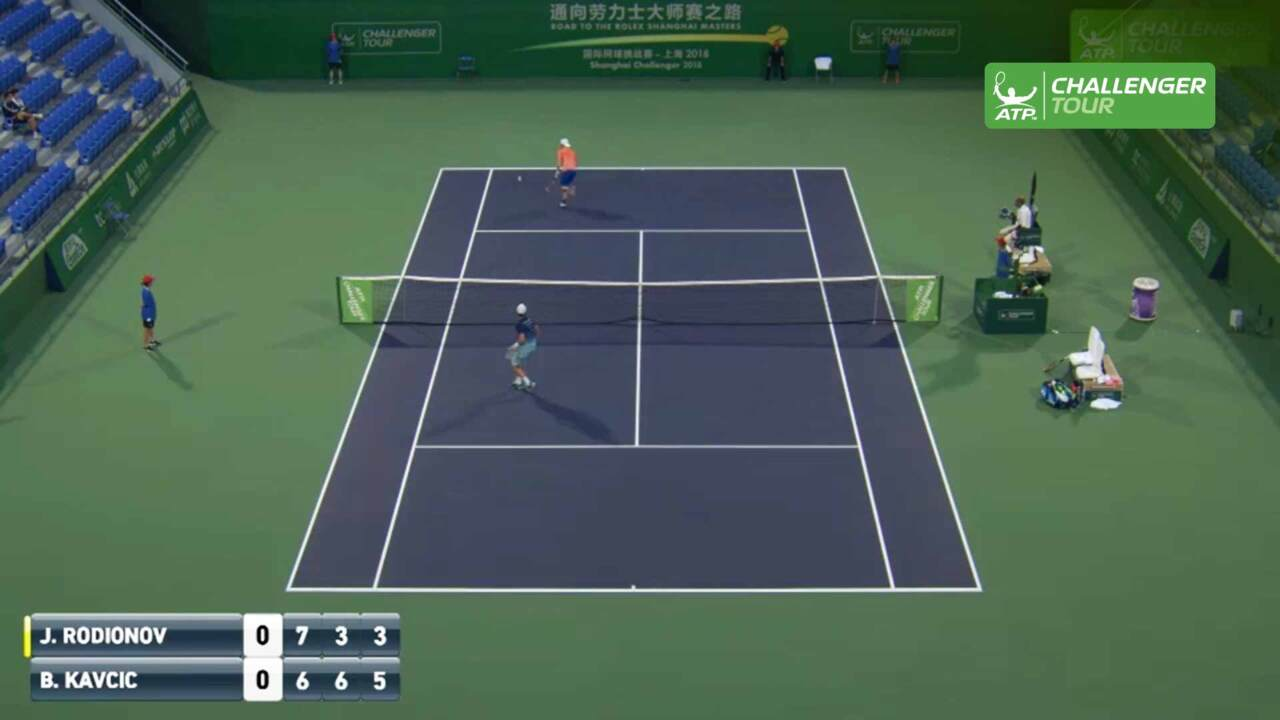 Hot Shot: Rodionov Launches Tweener Lob In Shanghai
