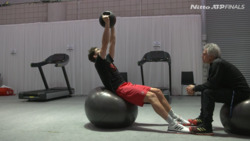 Dominic Thiem Gym Prep Ahead Of Rublev Clash