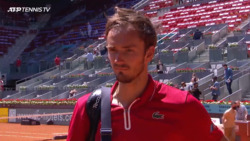 Medvedev: 'I Am Happy With First Win In Madrid'