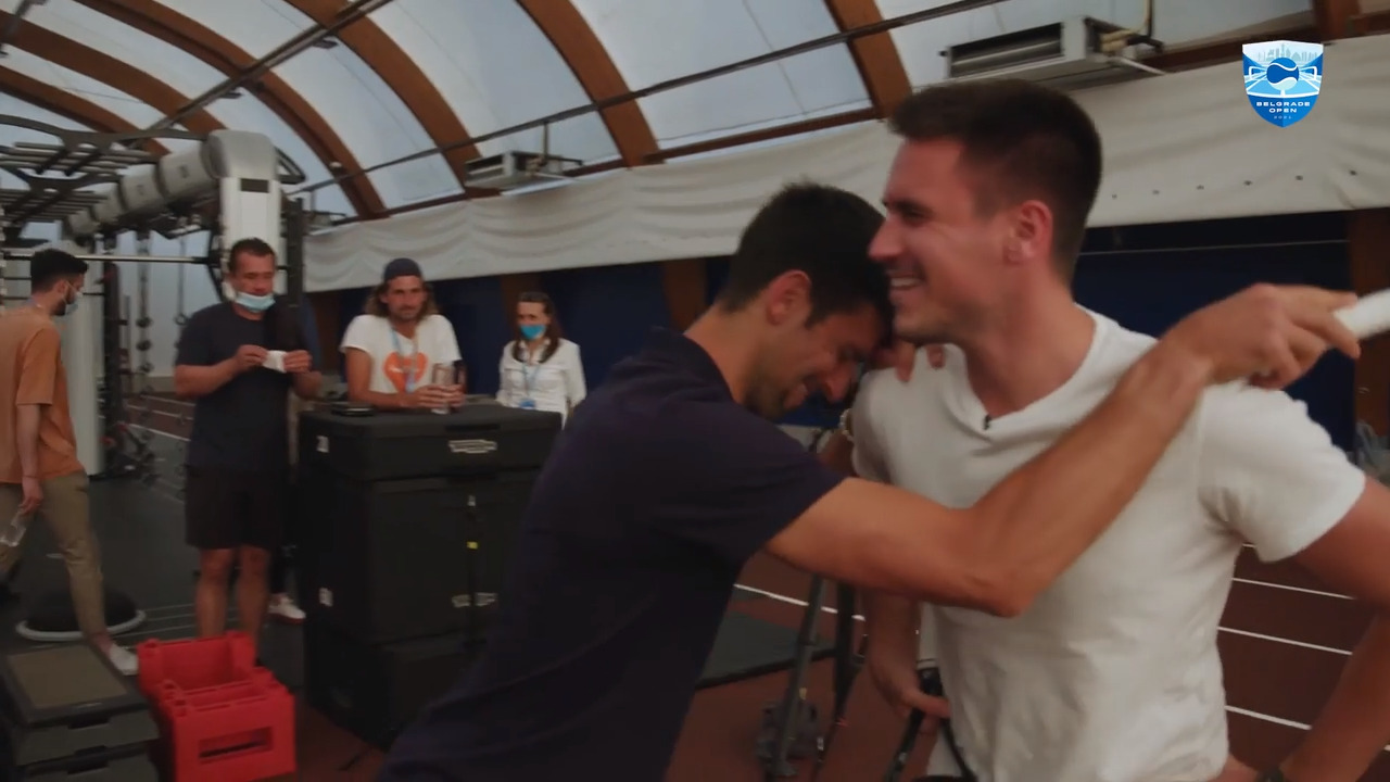 Watch Djokovic Play Tennis Tic-Tac-Toe