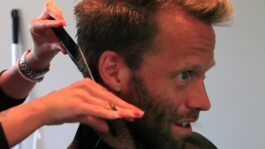 Lindstedt Gets A Haircut in Bastad