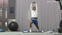 Djokovic Arrives, Stretches Before Zverev Match
