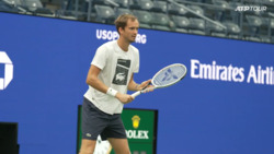 Watch Medvedev Fine-Tune His Game Ahead Of US Open 2021 First Round