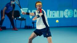 Hot Shot: Rublev Hammers Forehand Winner In Moscow