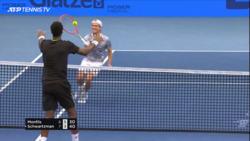 Hand Racquet? Watch Hilarious Point Between Monfils & Schwartzman