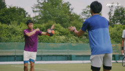 Watch Nishikori Work On His Fitness In Halle