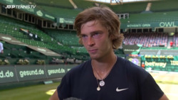 Rublev Delighted To Reach First Grass-Court Final At Halle 2021
