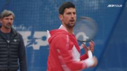 Watch Djokovic Warm Up & Hit In Belgrade