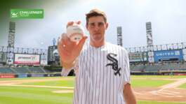 Opelka Throws Out First Pitch At White Sox Game