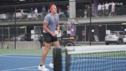 Watch Raonic Sharpen His Volleys In Atlanta