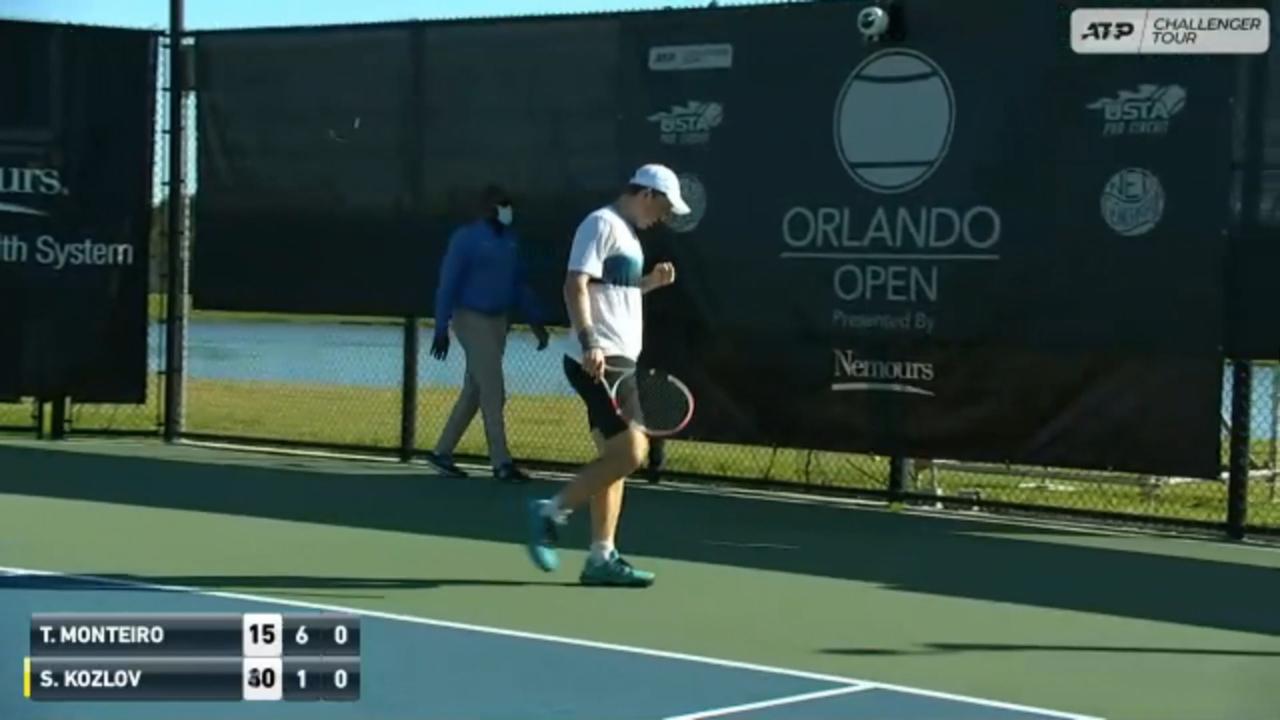Hot Shot: Kozlov's Ridiculous Lob At Orlando Challenger