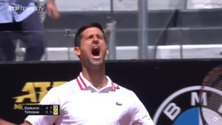 Hot Shot: Djokovic Seals Second Set vs. Tsitsipas