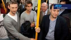 Madrid 2011 - Ferrer, Ferrero Take The Metro
