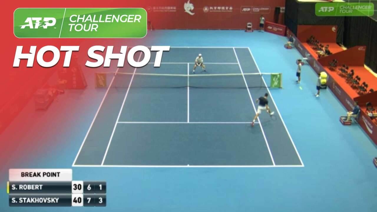 Hot Shot: Stakhovsky Strikes Double Tweener In Taipei