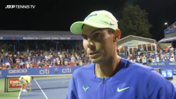 Nadal Reflects on 'Unforgettable' Atmosphere In Washington