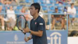 Watch Nishikori Work On His Volleys