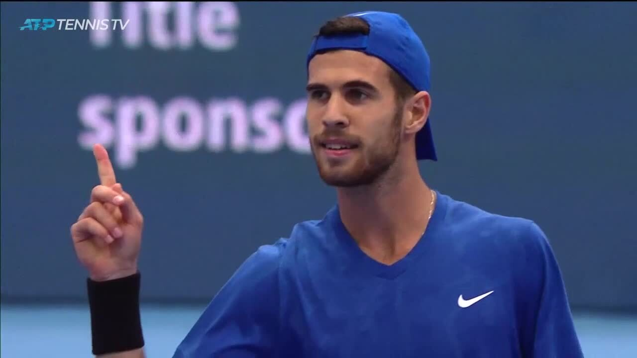 Hot Shot: Khachanov Saves Match Point In Moscow 2019