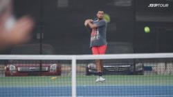 Watch Kyrgios & Raonic Working Hard In Atlanta