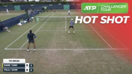 Hot Shot: Bambridge Covers Every Inch Of The Court In Surbiton