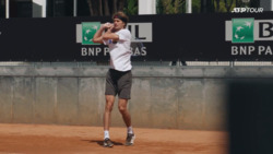 Up Close At Zverev's Practice In Rome