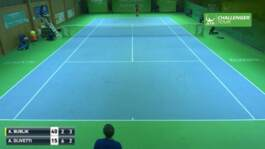 Umpire Catches Rocket Forehand At Eckental Challenger